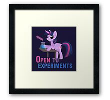 Open to experiments Framed Print