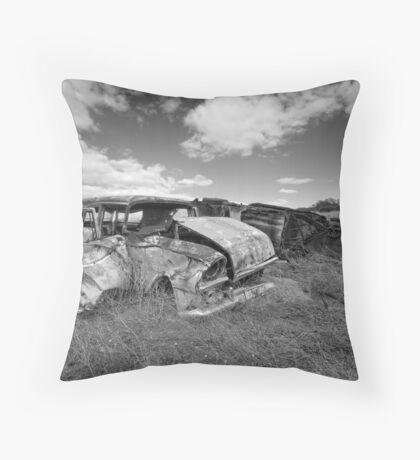 Car Graveyard - Morgan, SA Throw Pillow