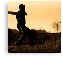 cricket bat training for championship Canvas Print
