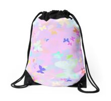 Soft Butterflies Drawstring Bag