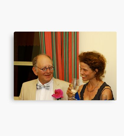 Father of the Bride Sister of the Groom Canvas Print