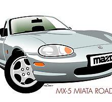 Mazda MX-5 Miata silver by car2oonz