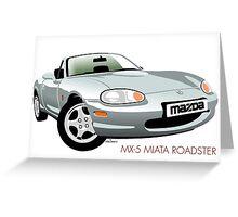 Mazda MX-5 Miata silver Greeting Card