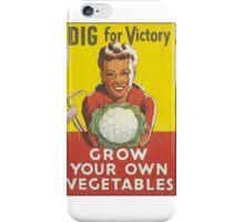 Dig for Veggies- Vintage iPhone Case/Skin