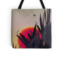 Red Heat (with Dragonflies) Tote Bag