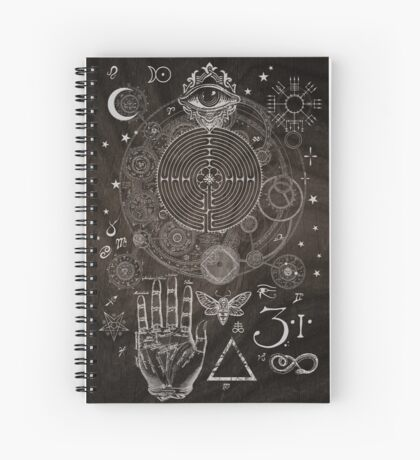 Magic Symbols for a Alchemist Dreamer Spiral Notebook