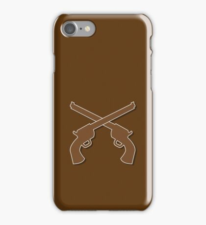 Guns pistols shooters crossed gunslinger iPhone Case/Skin