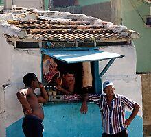 Butchers shop, Trinidad, Cuba by buttonpresser