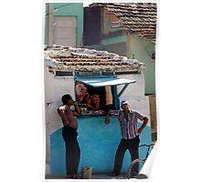 Butchers shop, Trinidad, Cuba Poster