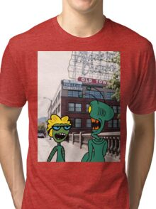 ZEEK from Mars & Nurdy from Venus visit Old Town Portland Tri-blend T-Shirt