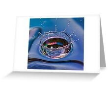 Splash of water coming down Greeting Card