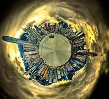 Hong Kong Skyline - Polar Panorama Planet HDR by HKart
