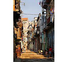 Back Street, Havana, Cuba Photographic Print