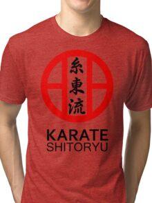 Shitoryu Karate Symbol and Kanji Tri-blend T-Shirt
