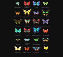 Neon Butterflies in an Old Cardboard Unisex T-Shirt