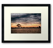 Sunset Orange Framed Print