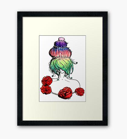 Cupcake princess or Marie-Antoinette Framed Print