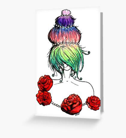 Cupcake princess or Marie-Antoinette Greeting Card