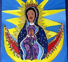 Virgin Guadalupe with Small Hands by saradelavos