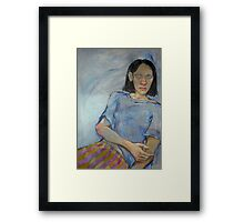 Blind Girl. Framed Print