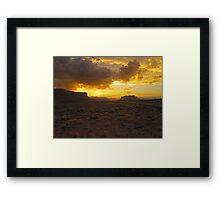 Monument Valley Sunset Framed Print
