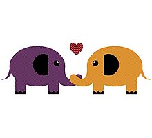Elephant Love Photographic Print