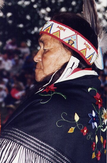 Blackfoot Old Native Woman  by Margaret Harris
