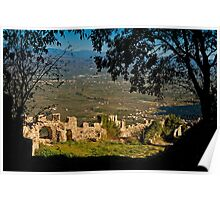 The view from the citadel of Mystras Poster