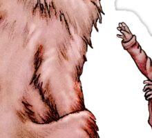 Cartoon Child with Wolf Drawing  Sticker