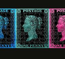 5 Penny Black Stamps Set 2 by jripleyfagence