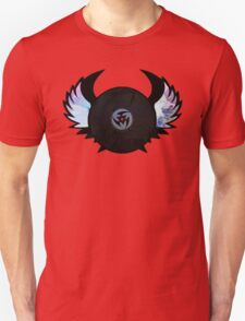Vinyl Records with Wings - Retro Grunge Vintage Art - Music DJ! T-Shirt