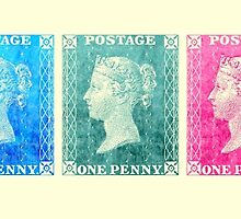 5 Penny Black Stamps Set 1  by jripleyfagence