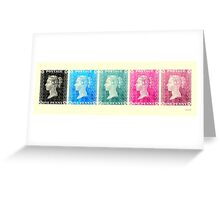 5 Penny Black Stamps Set 1  Greeting Card