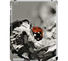 Ladybug on a stick macro iPad Case/Skin
