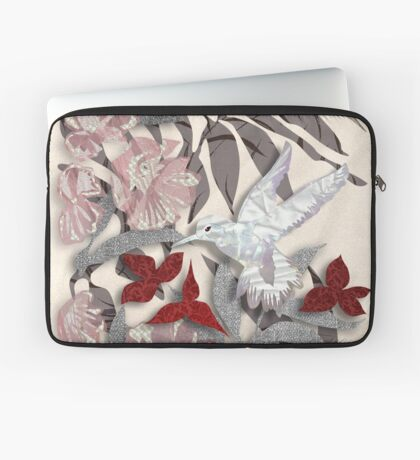 Satin Collage Winter Secret Garden Laptop Sleeve