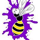 Wasp Splat - Purple by Calvin Innes