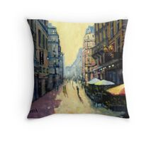 L'escargot on Rue Montorgueil,  Paris,  France  Throw Pillow