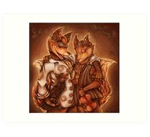 Three Foxes Art Print