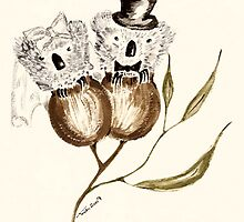 Bride and Groom Koalas by Trish Loader