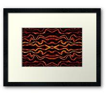 Tribal style pattern Framed Print