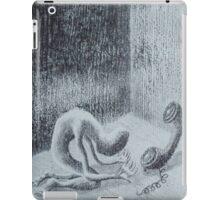 silenced reality. graphite, oil on wood. 8''x10''. adam sturch iPad Case/Skin