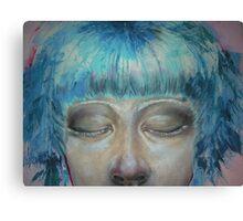 Bubblegum girl (detail) #2 Canvas Print