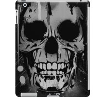 Cool Skull with Paint Drips - Black and White iPad Case/Skin