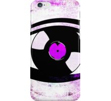 Eye Heart Vinyl (I Love Vinyls) Modern Conceptual Art Vinyl Records Music iPhone Case/Skin