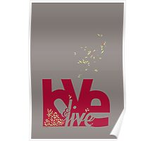 Love & Live (red) Poster