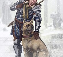 Alistair and Dog by hollyoakhill