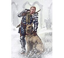 Alistair and Dog Photographic Print