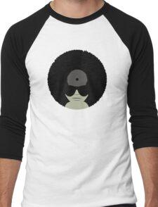 Funky Music Afro Vinyl Records Men's Baseball ¾ T-Shirt