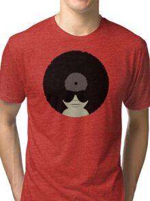 Funky Music Vinyl Records Tri-blend T-Shirt