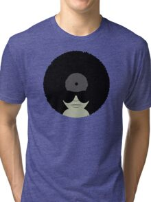 Funky Music Afro Vinyl Records Tri-blend T-Shirt